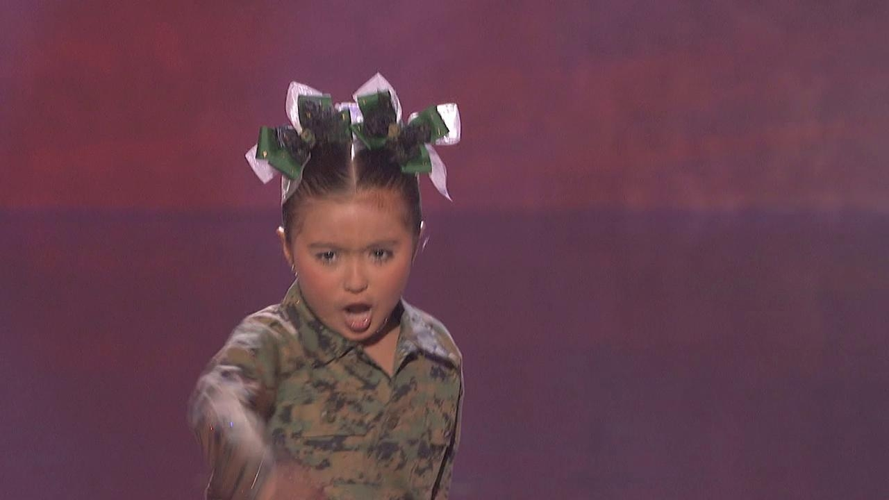 America's Got Talent: Little Military Girl Dance