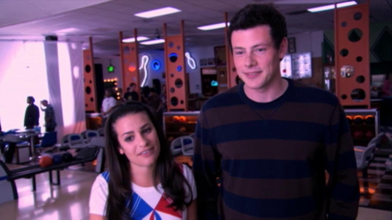Glee: Lea And Cory Shoot Their First On-Screen Kiss