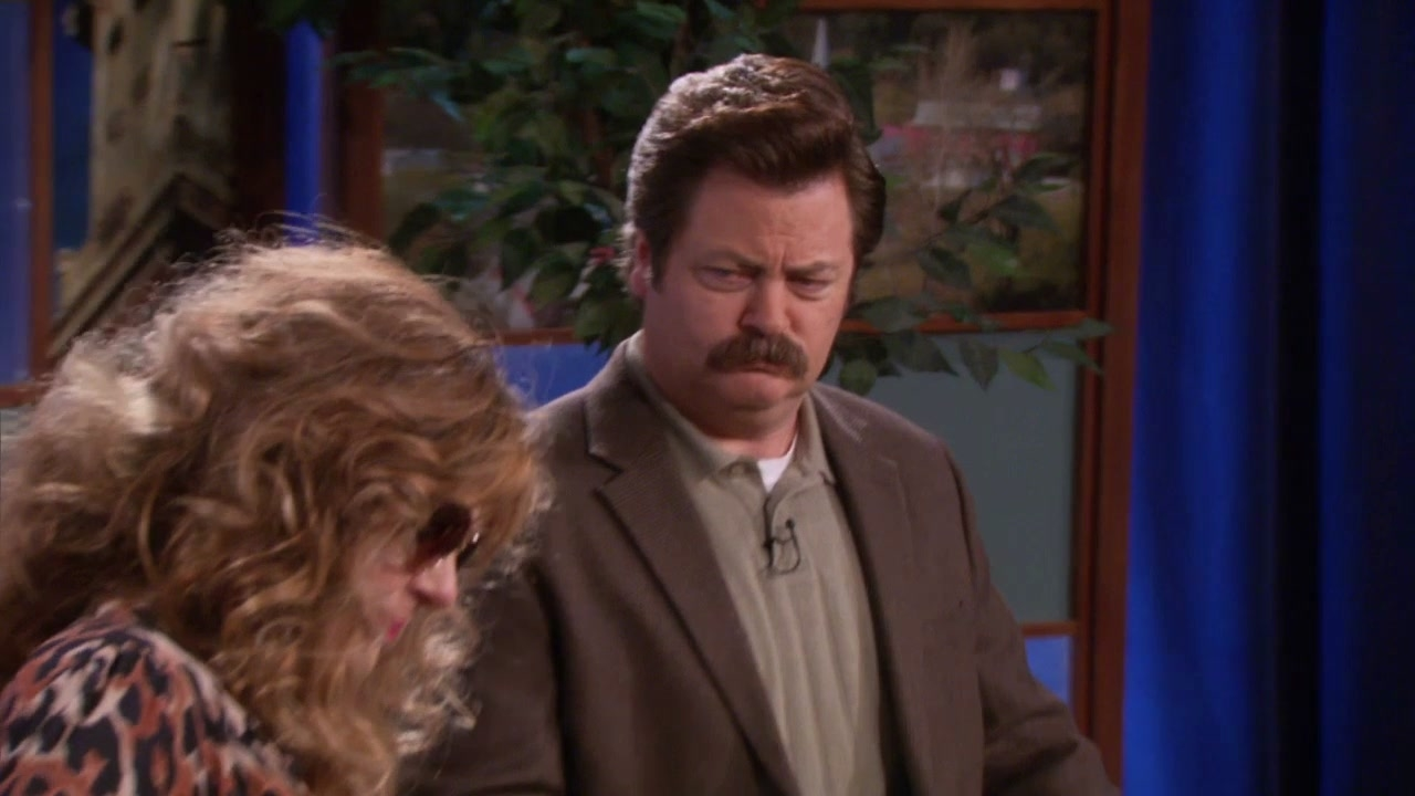 Parks And Recreation: Ron Goes On Pawnee Today
