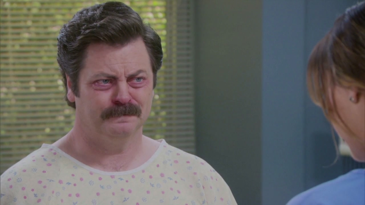 Parks And Recreation: Ron Is Sick