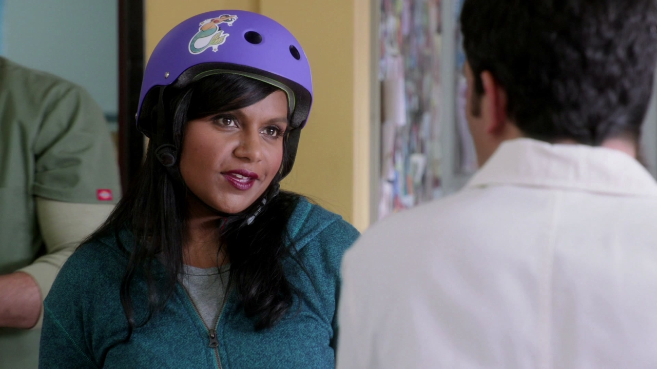 The Mindy Project: Mindy Has On Pads And A Helmet