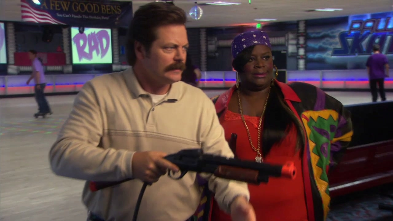 Parks And Recreation: Ron's Giving Donna Some Pointers