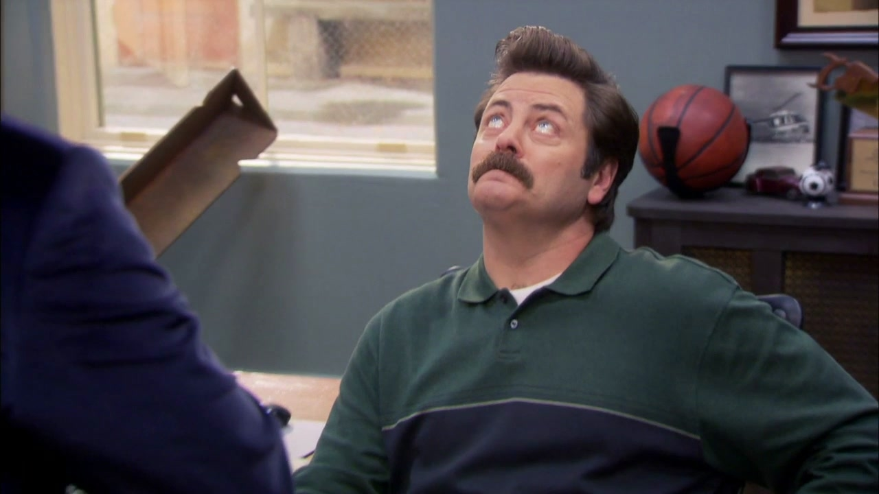 Parks And Recreation: Leslie And Tom Argue