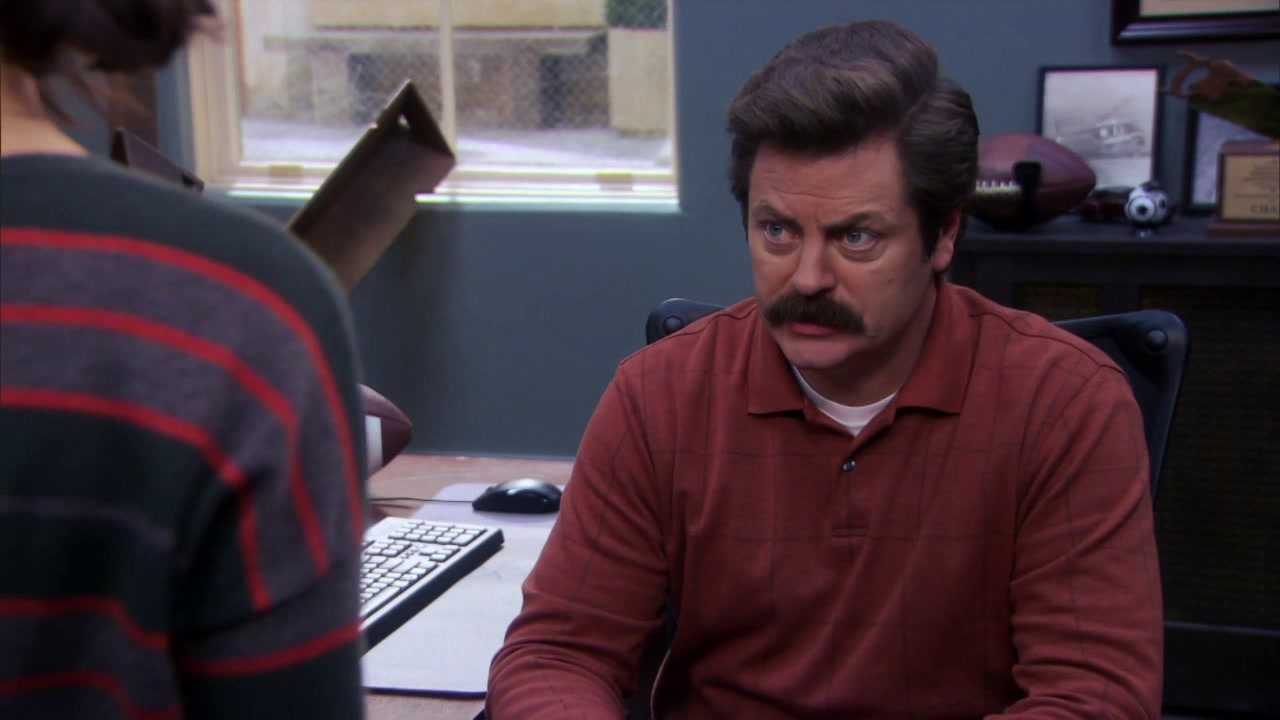 Parks And Recreation: April Asks For Ron's Help