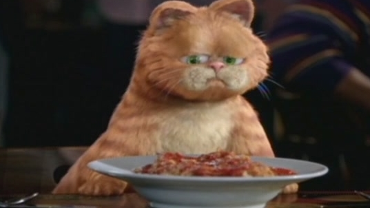 Garfield A Tale Of Two Kitties Scene: What Gruel Is This?