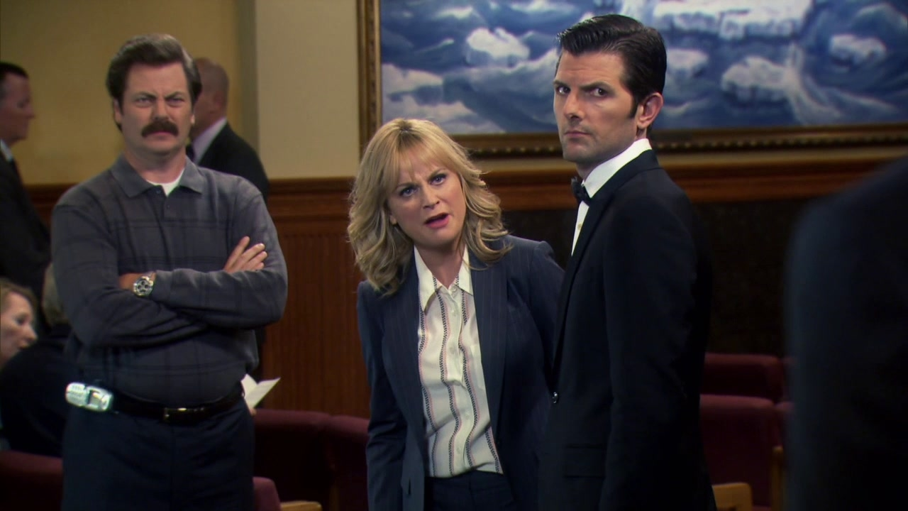 Parks And Recreation: Leslie And Ron