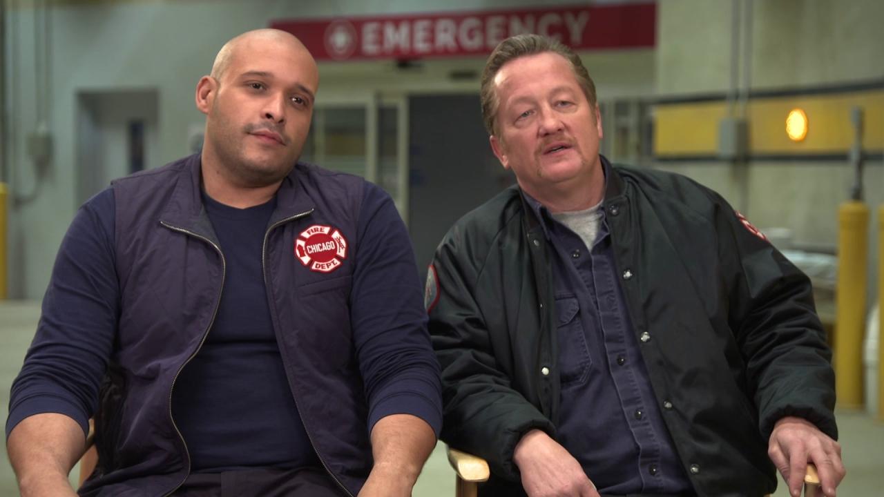 Chicago Fire: Joe Minoso & Christian Stolte