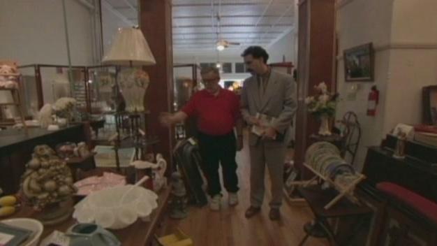 Borat Scene: Antique Store