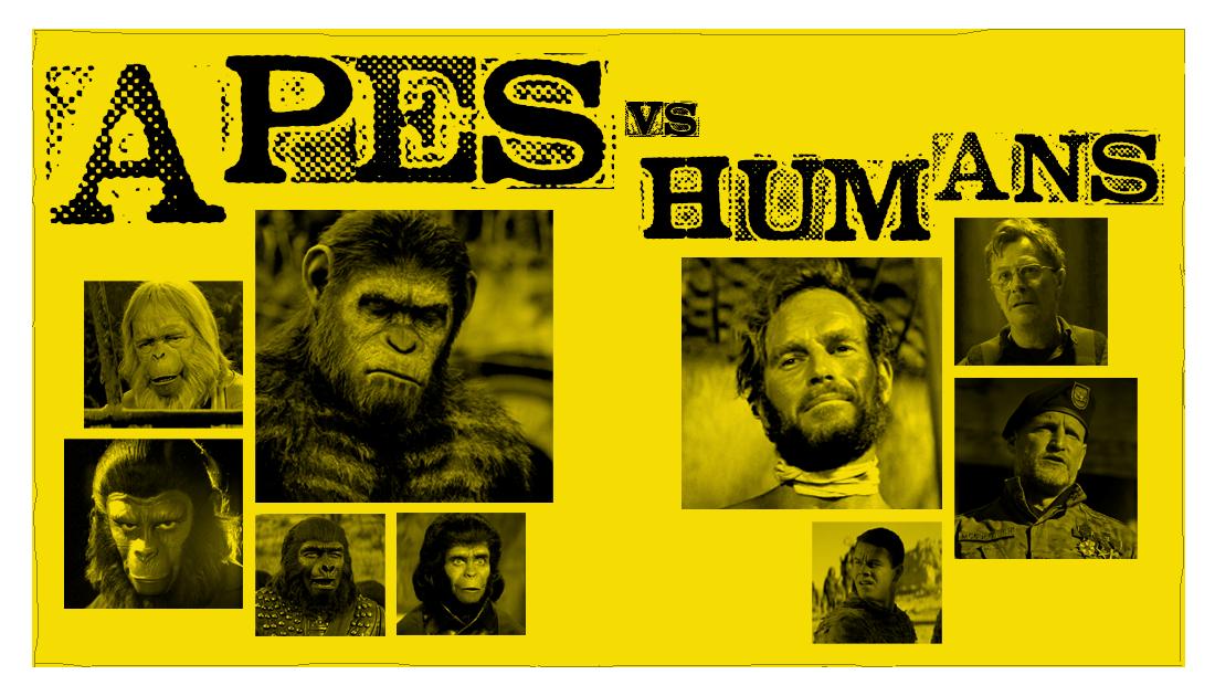 Apes vs. Humans! List