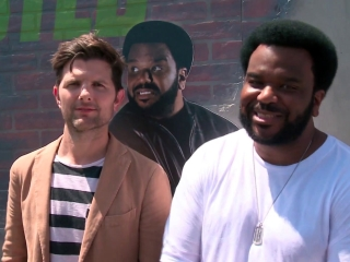 Ghosted: Craig Robinson & Adam Scott Play Laser Tag At Comic-Con 2017