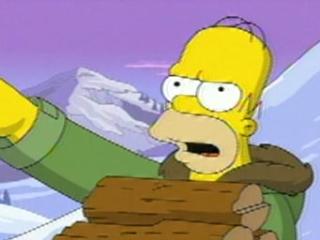 Simpsons Movie Scene: Avalanche
