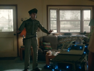 Welcome To Marwen: Mark's Pep Talk From Hogie Is Interrupted By A Gunshot In Marwen