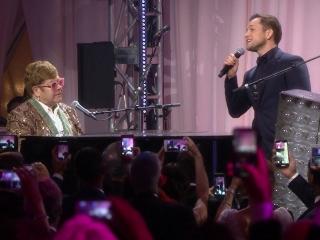 Rocketman: Elton And Taron Perform Together