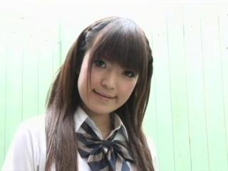 Asian girl white top