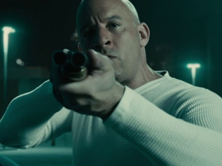 Furious 7: Dom And Shaw Fight On The Garage Rooftop